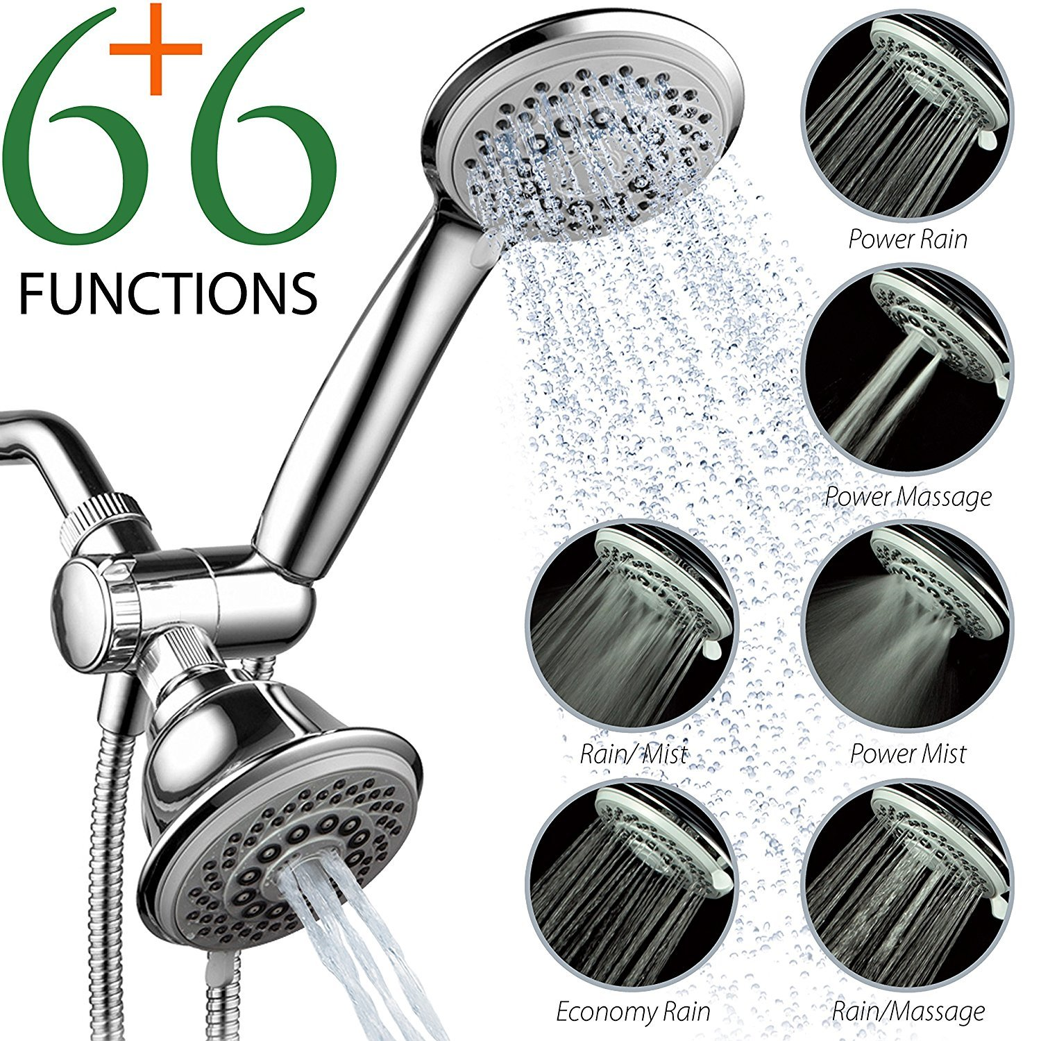 best rain shower head with high pressure. best dual shower head 10 Best Dual Shower Heads