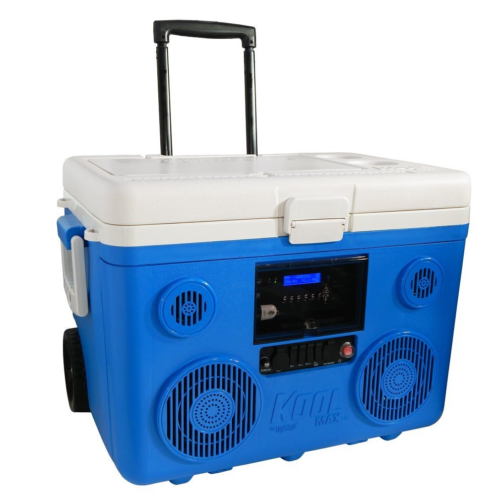 40-Quart Wheeled Cooler With Speakers