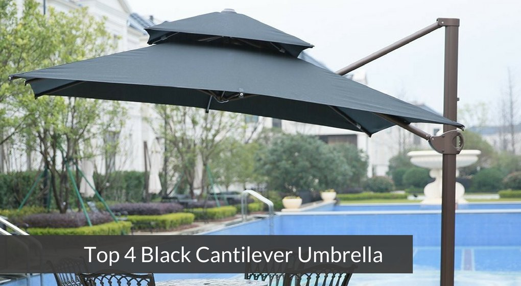 Top 4 Black Cantilever Umbrella