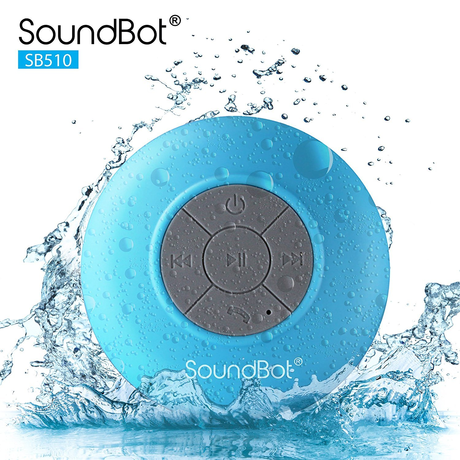 SoundBot SB510 HD Water Resistant Bluetooth 3.0 Shower Speaker