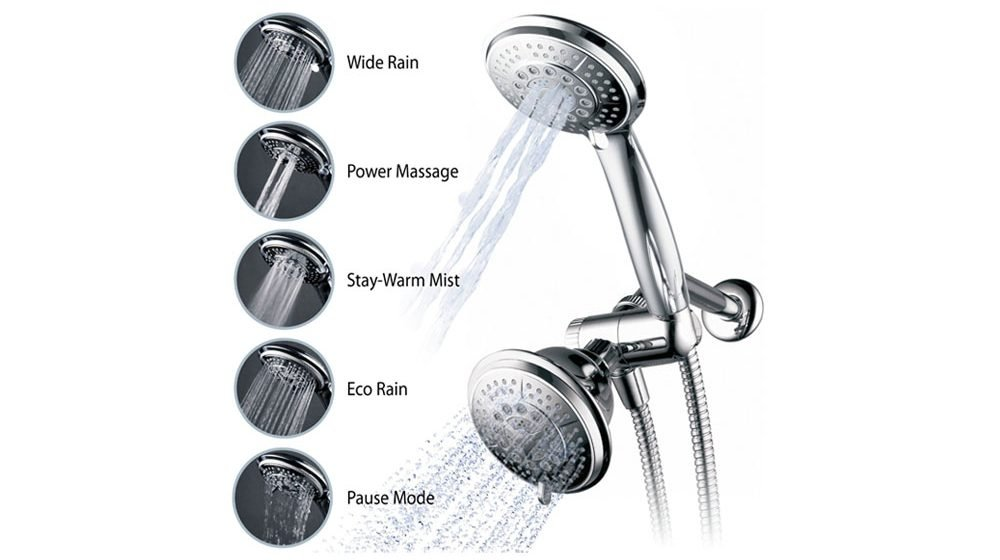 hand powerful accessories heads showerhead showroom sprayers multi dual head shower bathroom systems chrome featuring zoe combinations held industries mariner showerheads