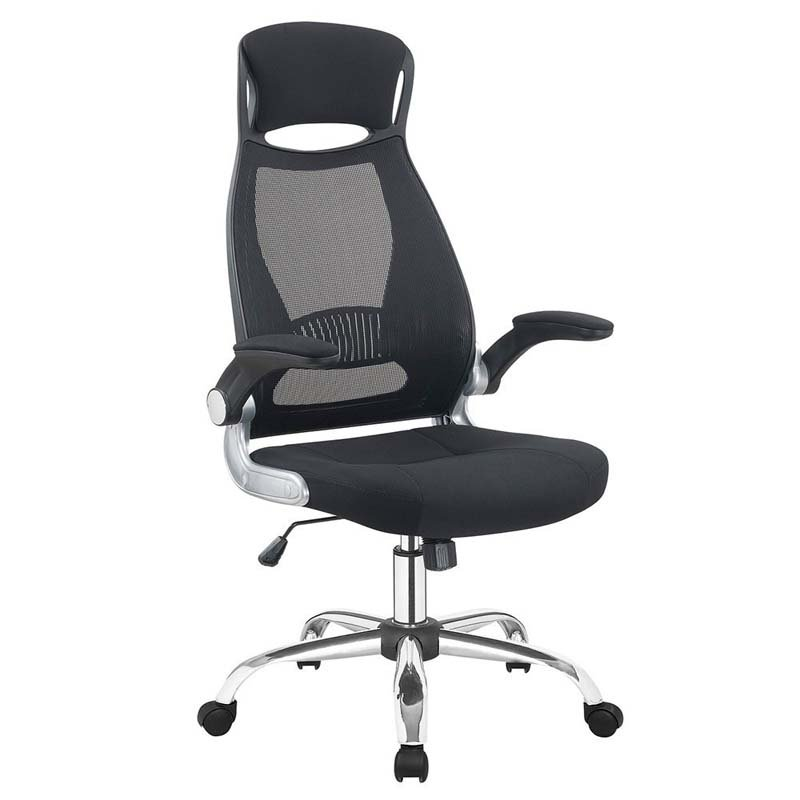 Jumei Adjustable High Black Mesh Office Chair
