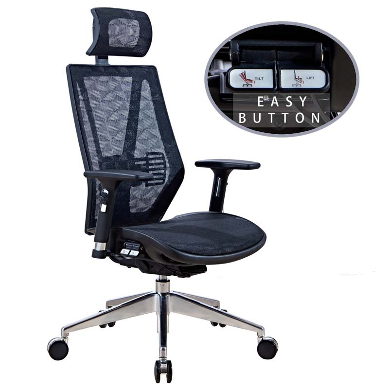 LSCING Ergonomic High Back Mesh Executive Chair Unique Design with Easy Button