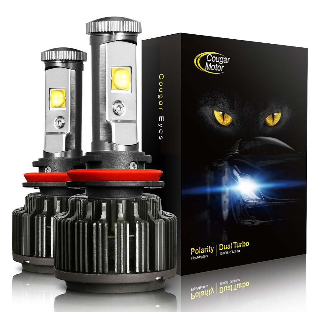CougarMotor LED Headlight Bulbs All-in-One Conversion Kit - H11