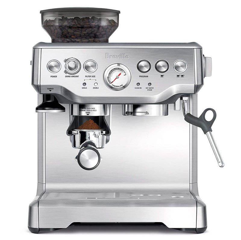 The Breville BES870XL Barista Express Espresso Machine