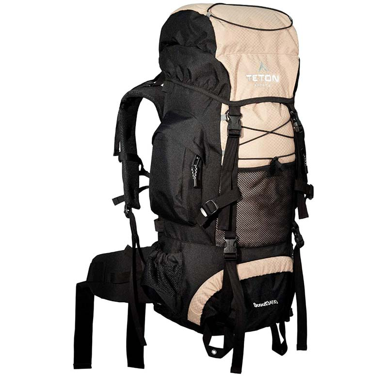 55L Teton Sports Scout 3400 Internal Frame Backpack