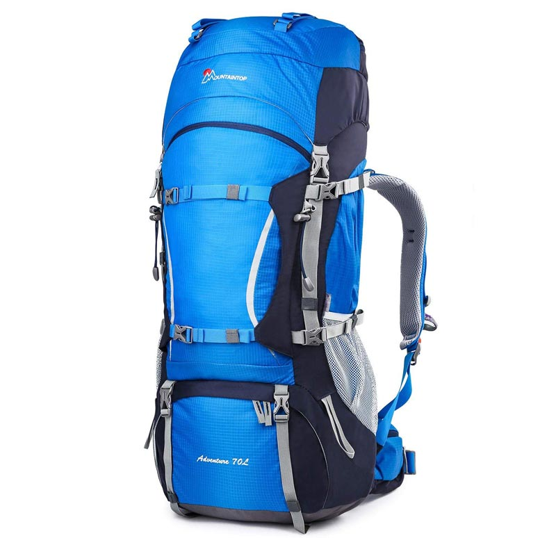 Mountaintop 50L, 70L and 80L Internal Frame Hiking Backpack