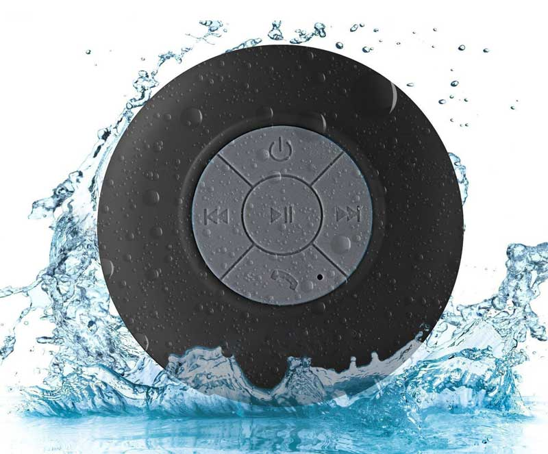BONBON Water Resistant Handsfree Portable Wireless Shower Speaker
