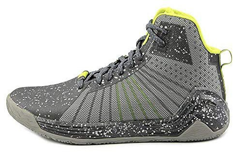 Tesh Trooper Men's Leather High Top Basketball Athletic Shoes Silver